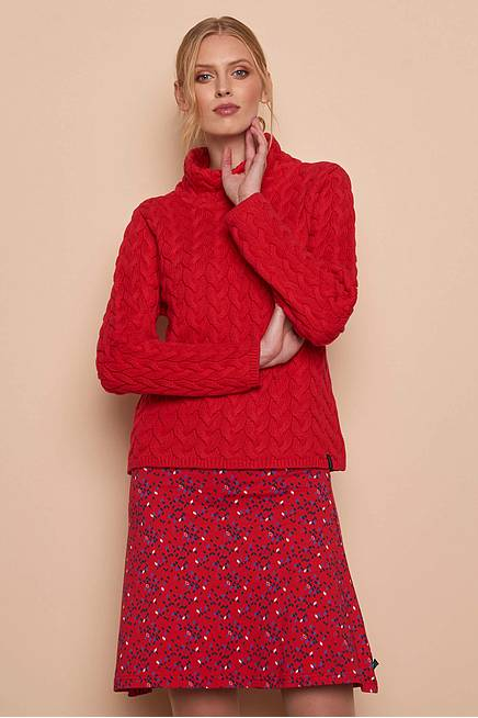 Knitted Sweater AURORA red