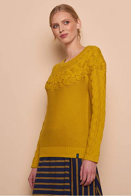 Knitted Sweater RONJA  curry