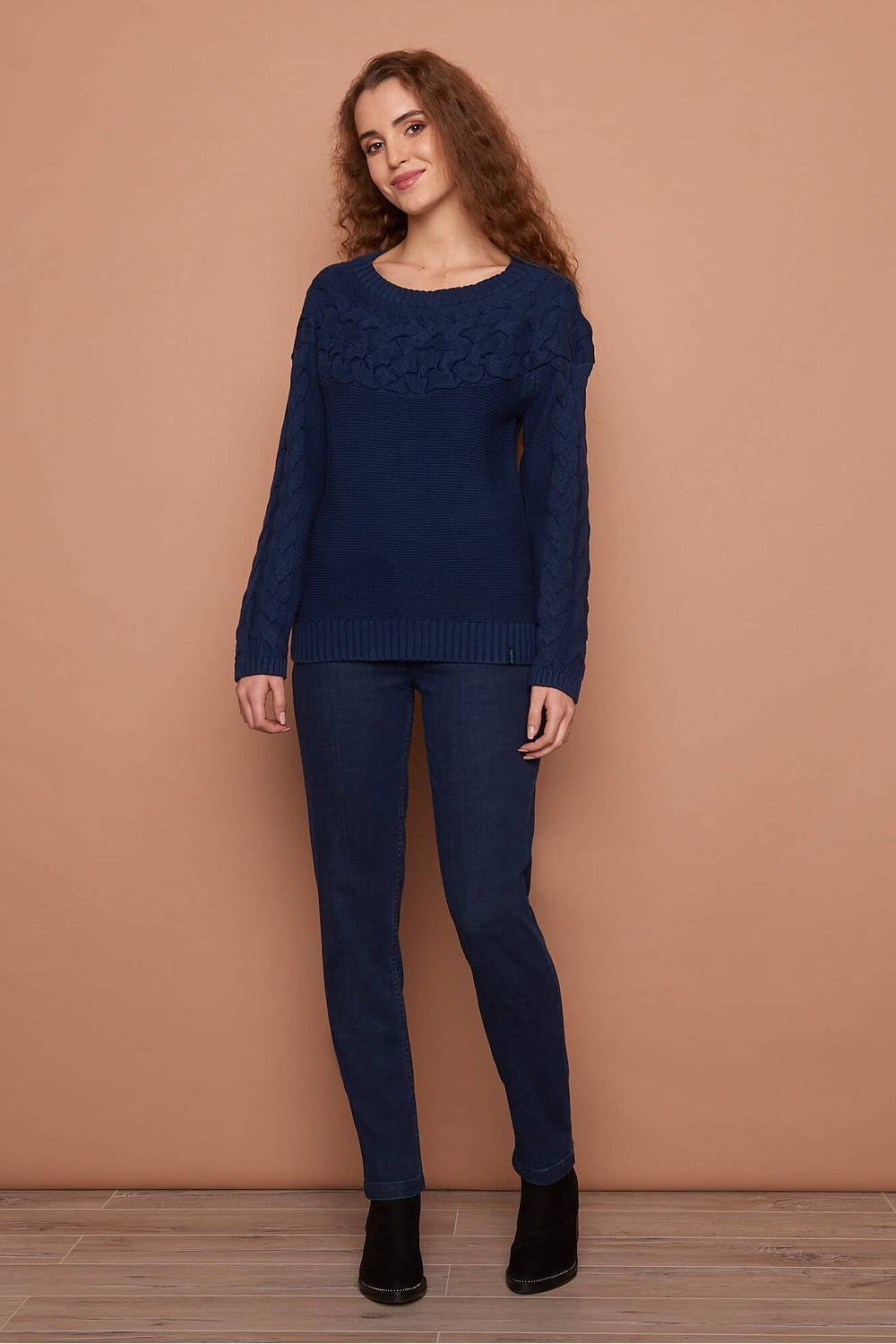 Knitted Sweater RONJA  navy