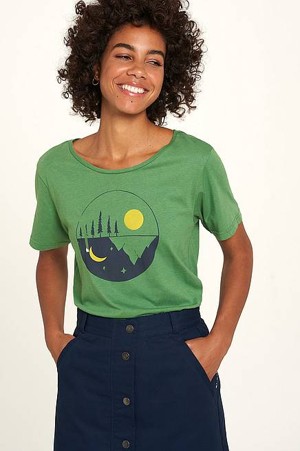 Viskose Shirt green moon