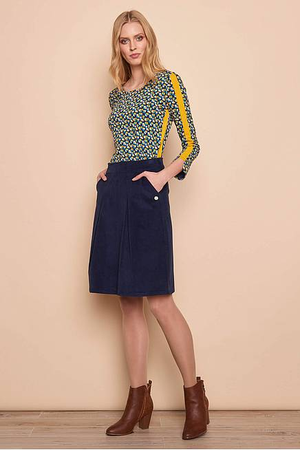 Cord Skirt HEDDA navy