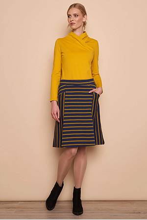Heavy Slub Rock LISKA navy stripes