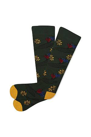 Socken FLOWER green