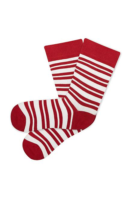 Socken STRIPES red