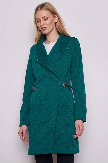 Fleece Coat EDDA petrol