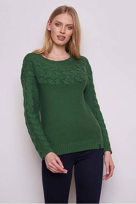Knitted Sweater RONJA  green