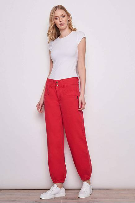 Baggy Jeans PATRICIA red