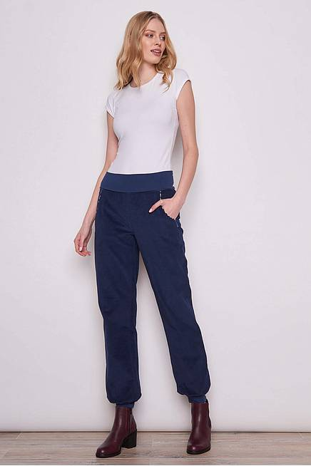 Cord Trousers HAMAL navy