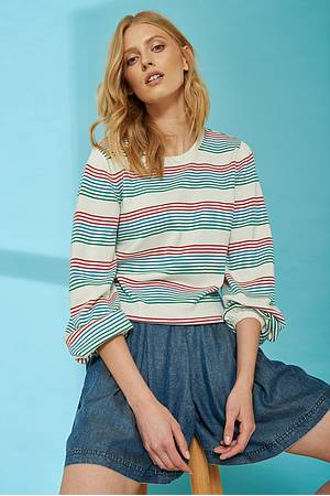 Leichter Strickpullover SENTA coloured stripes