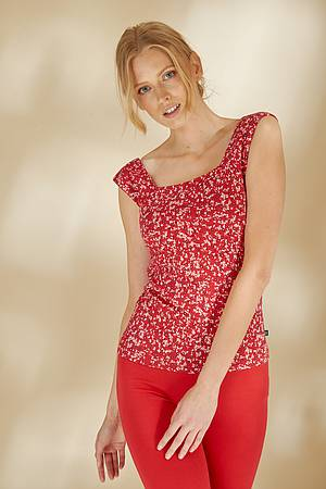 Jersey-Top »Ife« red florecita