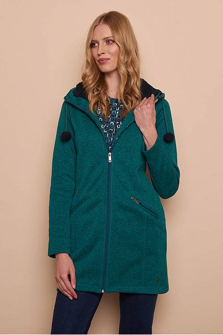 Fleece Coat MADITA petrol