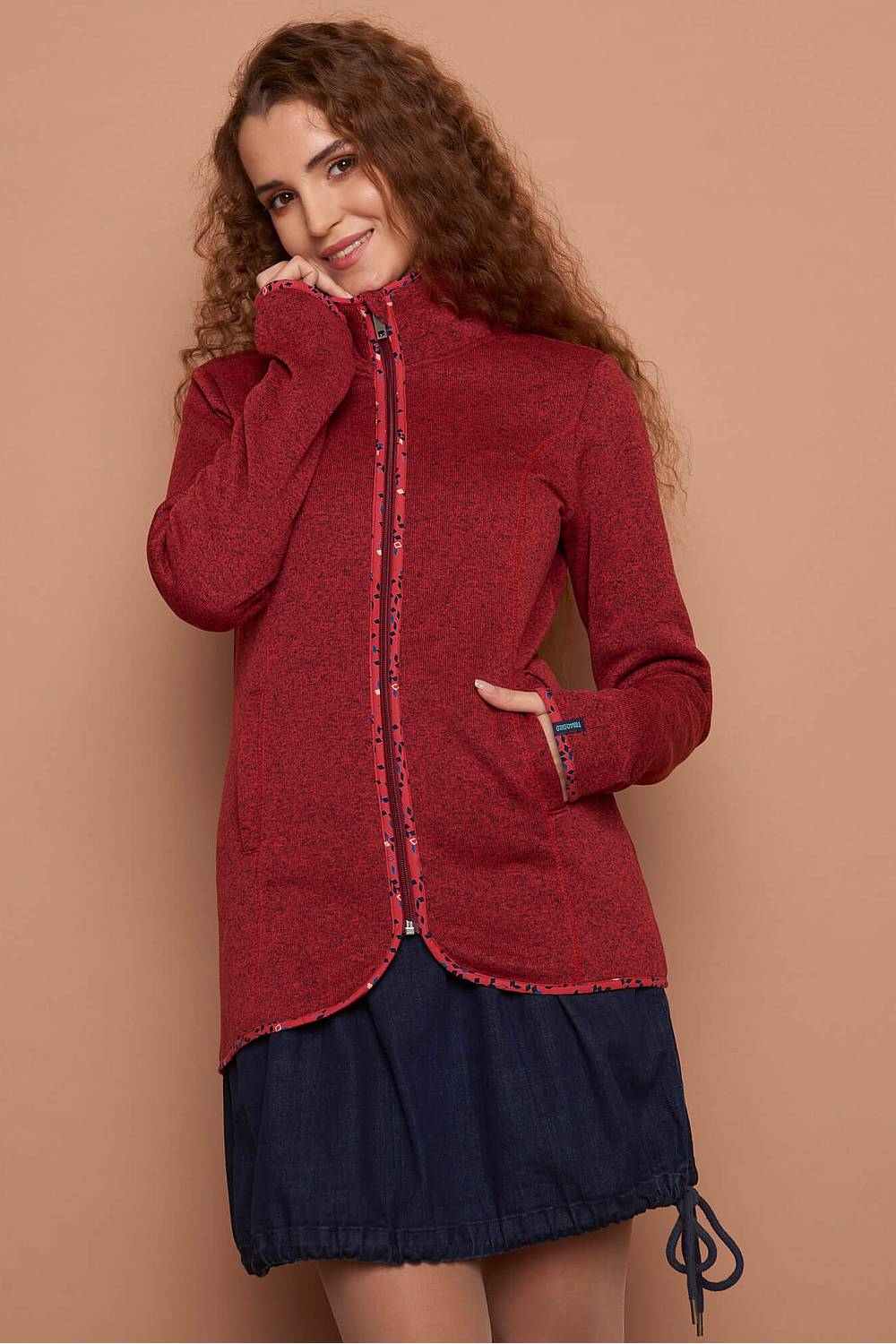 Fleecejacke HJÖRDIS red