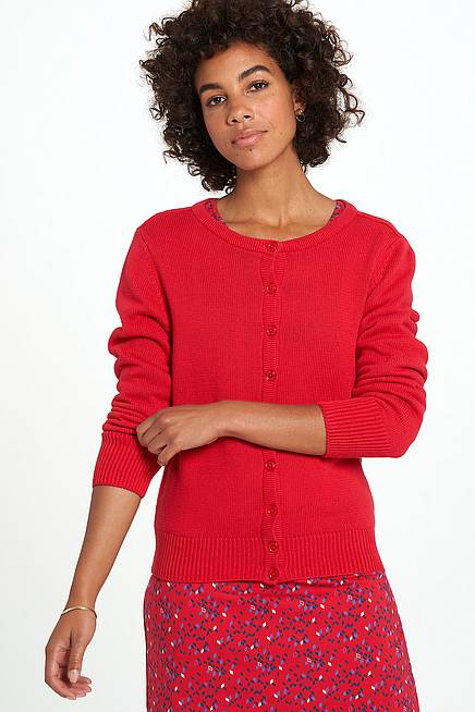 Strickjacke ALMA red