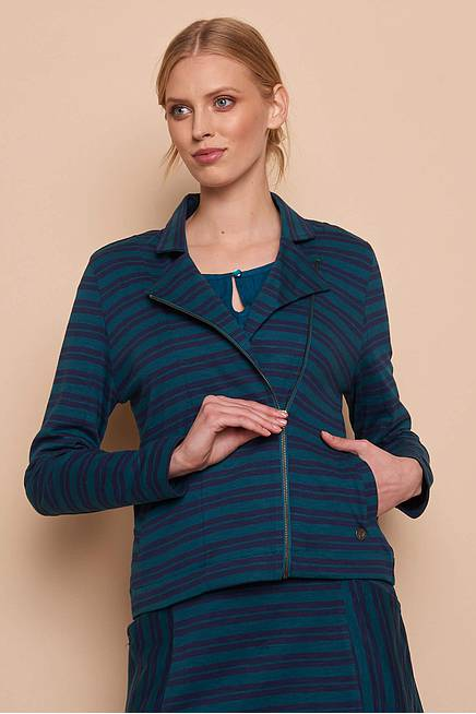 Heavy Slub Jacke VILDA  pine stripes