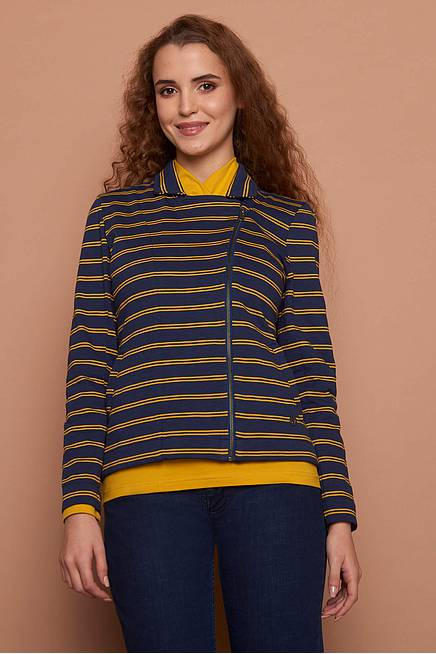 Heavy Slub Jacket VILDA navy stripes