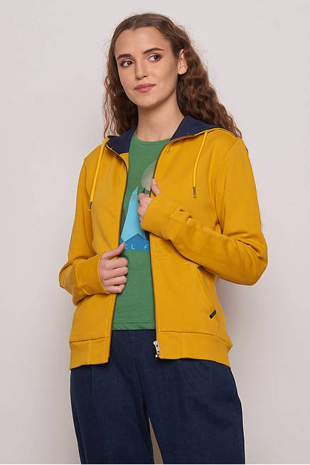 Sweatjacke LAINA curry