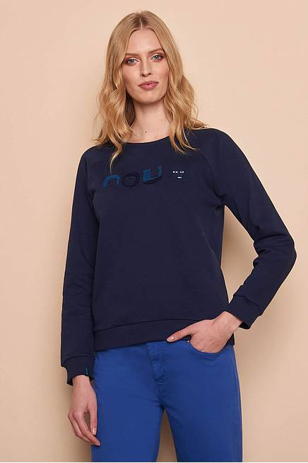 Sweater YLVA  navy faces
