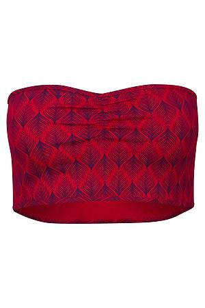 Bandeau-Top »Therese« red leaf