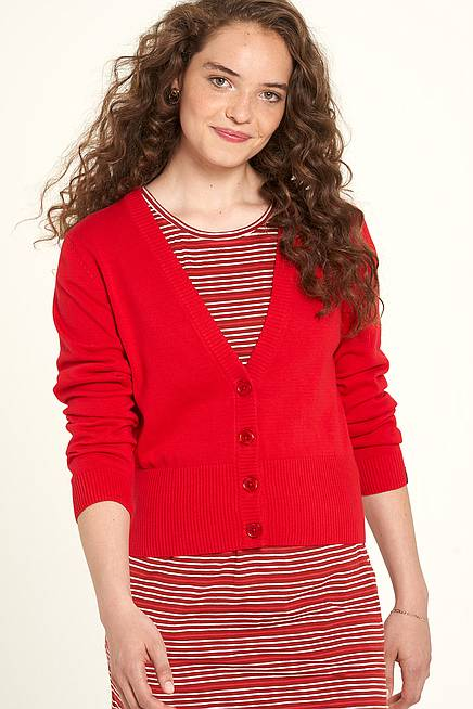 Strickjacke cherry