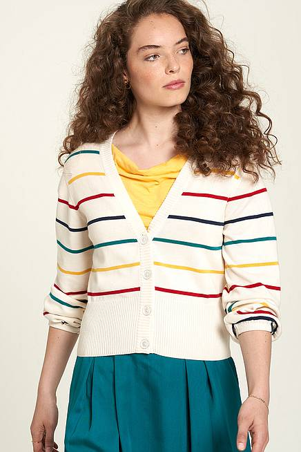 Strickjacke coloured stripes