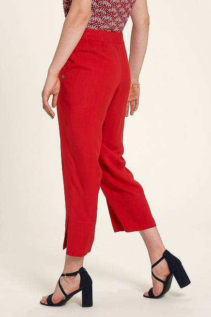 EcoVero Trousers  cherry