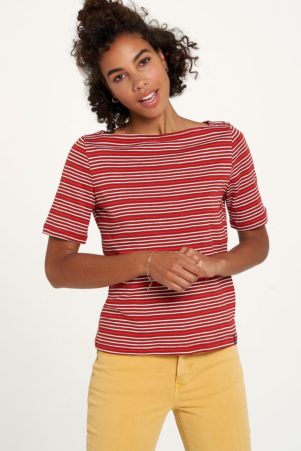 Jersey-Shirt  henna stripes