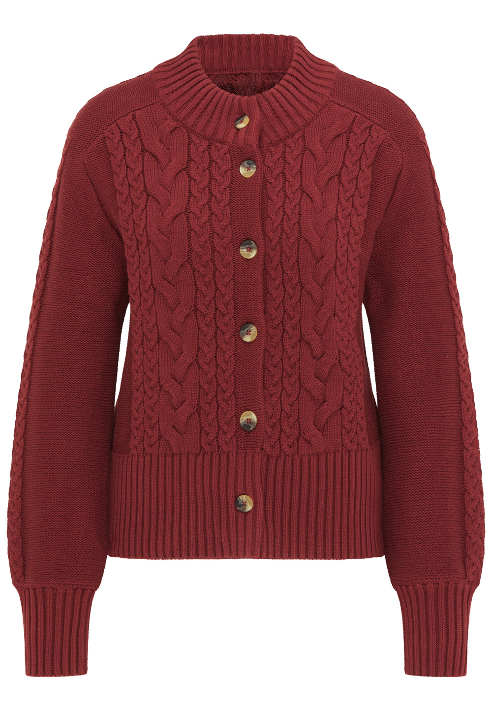 Strickjacke KOLFINNA dark red