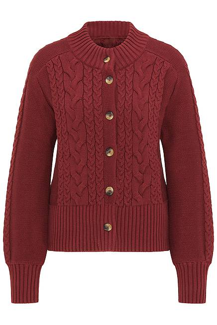 Cardigan      dark red