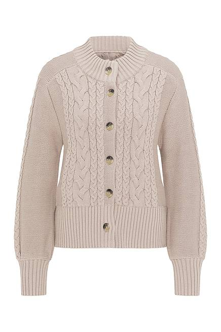 Strickjacke     sand
