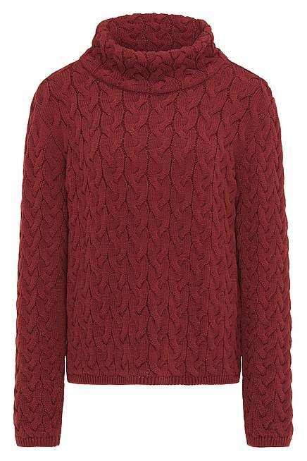 Strickpullover AURORA dark red
