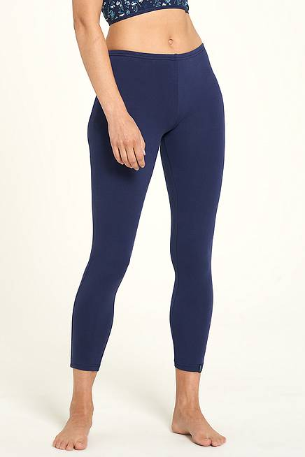 Jersey-Leggings navy
