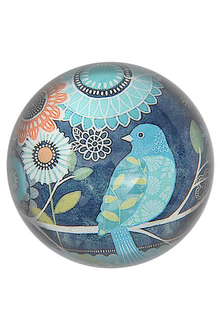 Paperweight BIRD blue