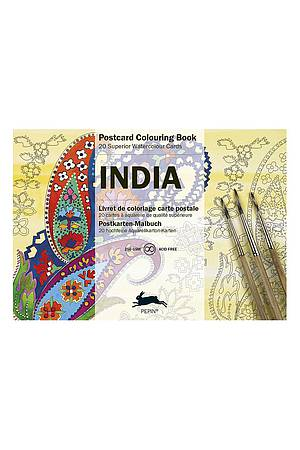 Postcard Colouring Book - India