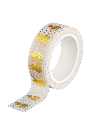 Washi Tape - Ananas Gold