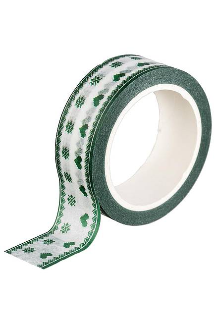 Washi Tape MÜNCHEN HEARTS green