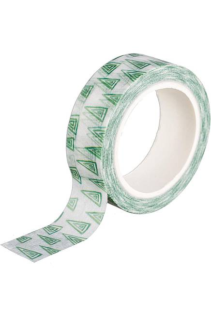 Washi Tape GREEN TRIANGLE