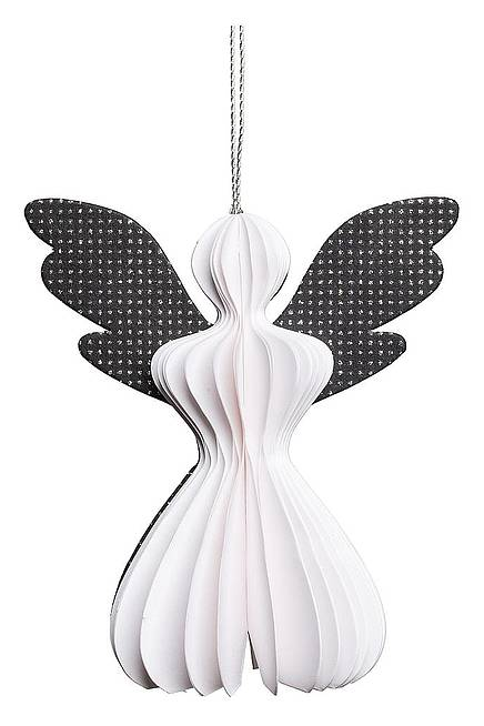 Paper Pendant ANGEL black and white