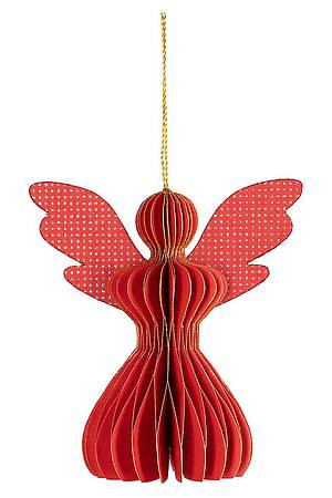 Paper pendant ANGEl red