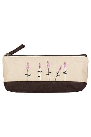 Pencil case Fleurette brown