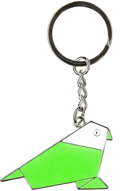 Key ring with ORIGAMI PARROT