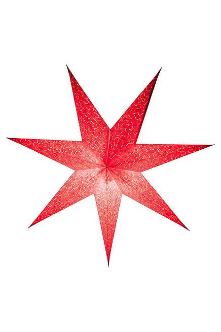 Recycling Paper Star 60 cm red