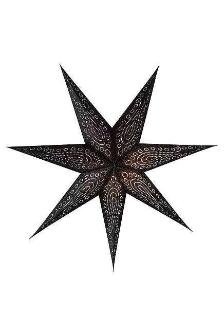 Recycling Paper Star 75 cm black