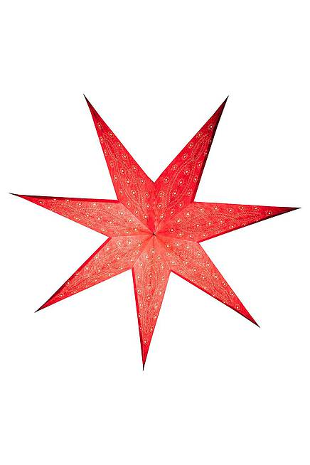 Paper Star 60 cm embroidered red