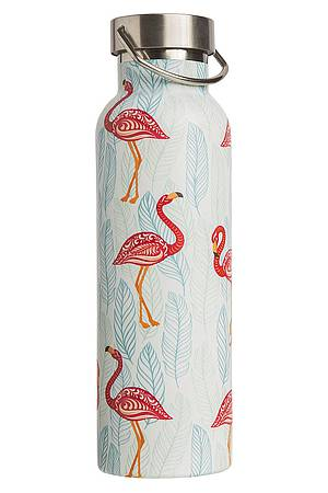 Isolierflasche 600 ml »Pink Flamingos«