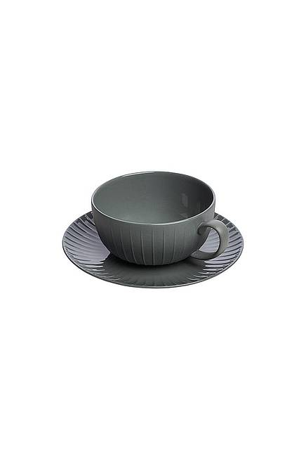 Tasse & Untertasse VINTAGE 250 ml grey