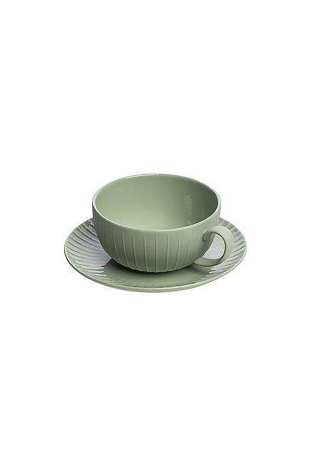 Tasse & Untertasse VINTAGE 250 ml green